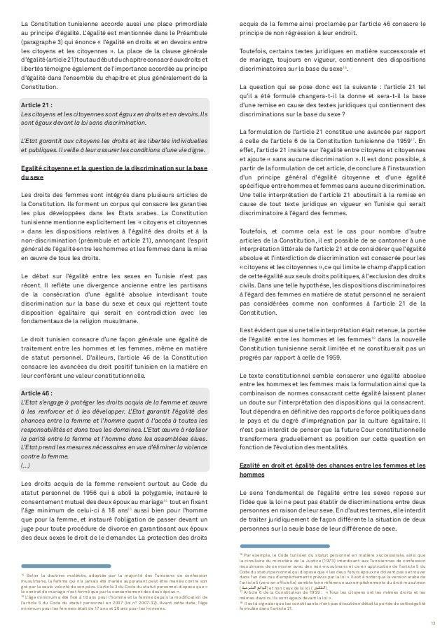 13 14 Selon la doctrine malékite, adoptée par la majorité des Tunisiens de confession musulmane, la femme qui n'a jamais é...