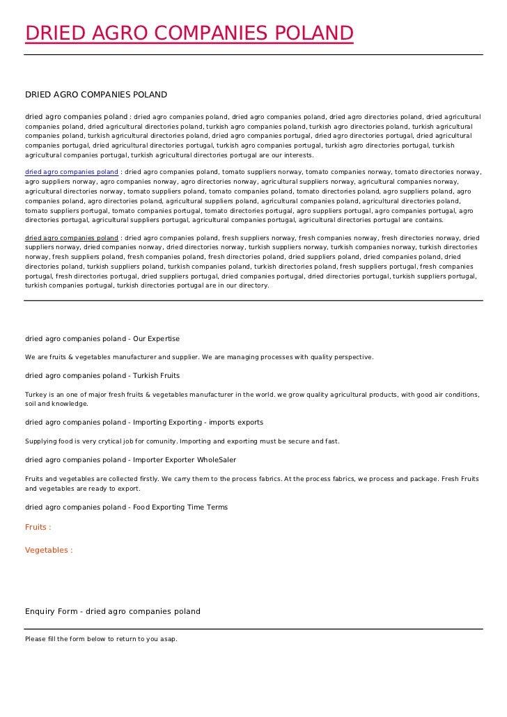 DRIED AGRO COMPANIES POLANDDRIED AGRO COMPANIES POLANDdried agro companies poland : dried agro companies poland, dried agr...