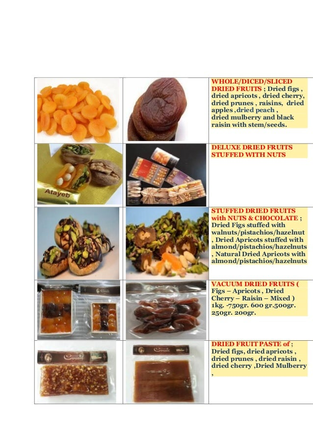Dried fruits & nuts & sweets export from turkey