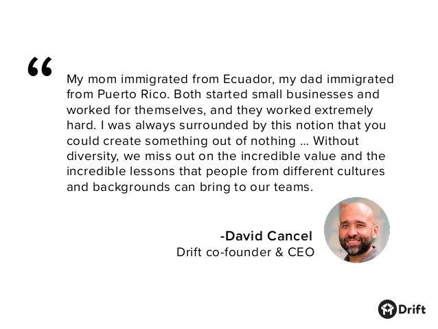 Drift Diversity Report Slide 2