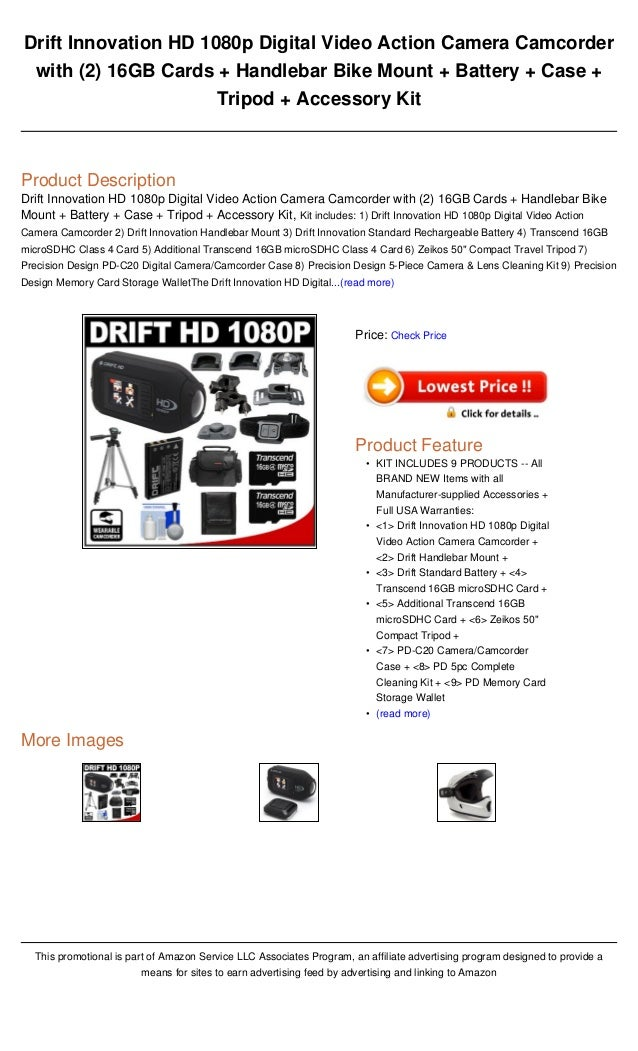 Drift Innovation Hd 1080p Digital Video Action Camera Camcorder With