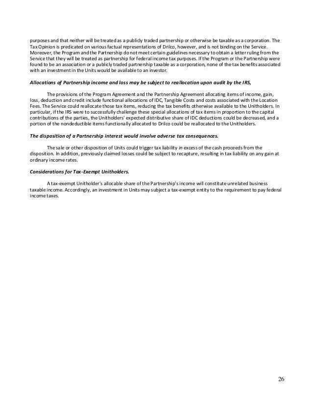 Coastal Drillers Tax Memorandum Essay