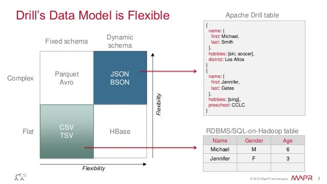 Apache Drill Architecture – High-Performance SQL with a JSON Data Model Slide 3