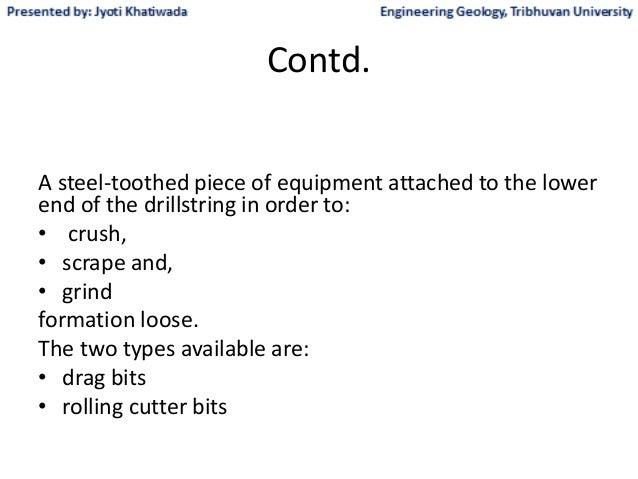 Drill bit types advantages and disadvantages
