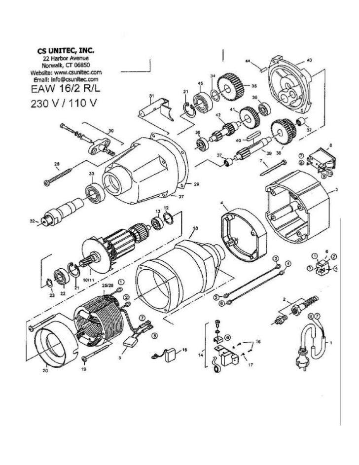 CS UNITEC                                               Electric Drill Model EAW 16/2 R/L Parts List                      ...