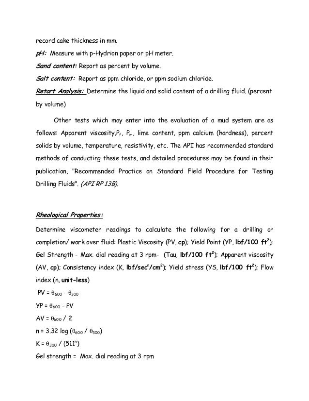 Drilling Fluid Chapter 2