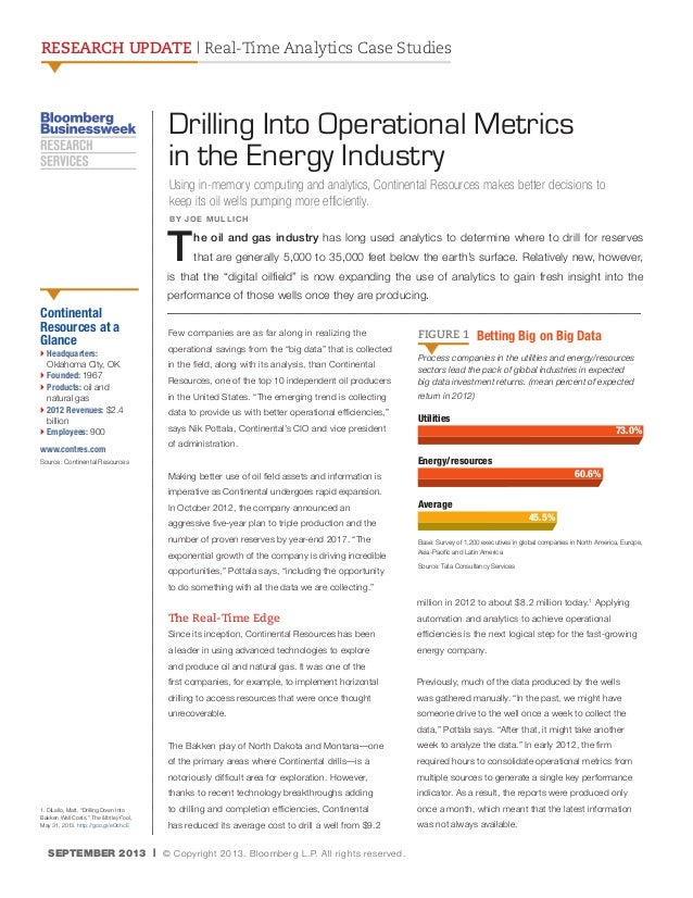RESEARCH UPDATE | Real-Time Analytics Case Studies  Drilling Into Operational Metrics in the Energy Industry Using in-memo...