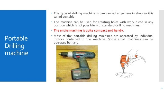 Drilling machines and operations