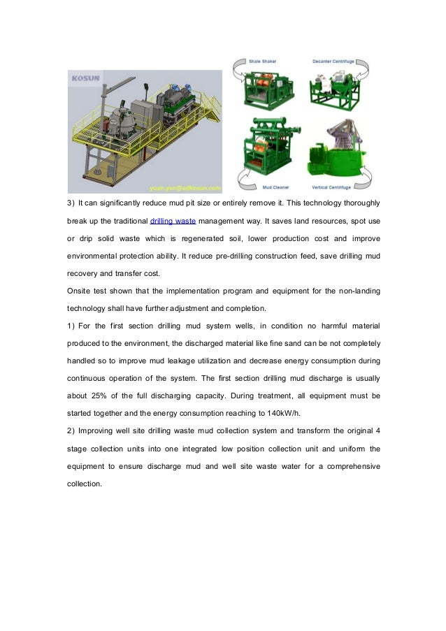 Drilling Waste Management Technology Application