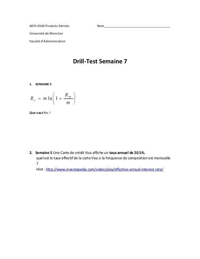 ADFI-4540 Produits Dérivés Nom_____________________________________  Université de Moncton  Faculté d'Administration  Dril...