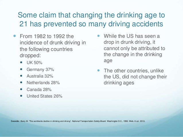 The Debate On Lowering The Drinking Age