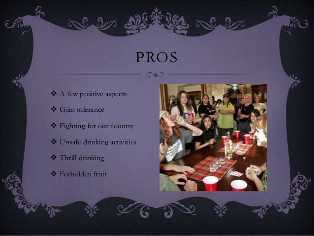 Pros of lowering drinking age outline