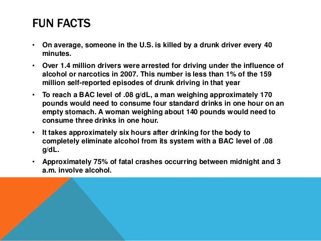 Facts On Drunk Driving 101