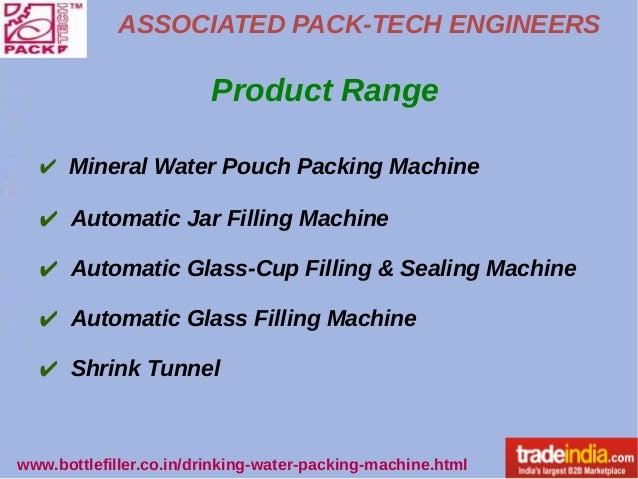 Drinking Water Packing Machine Manufacturer, Exporter, Gujarat