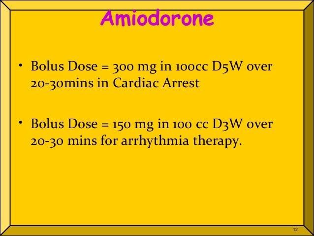 amiodarone drip 1mg/min