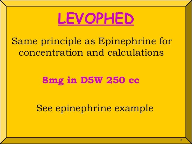 Drip calculation powerpoint