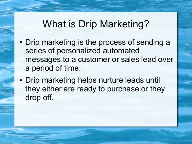 10 Step Example of an Effective Drip Marketing Campaign Slide 2