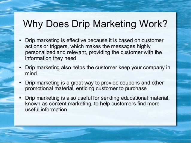 10 Step Example of an Effective Drip Marketing Campaign Slide 3
