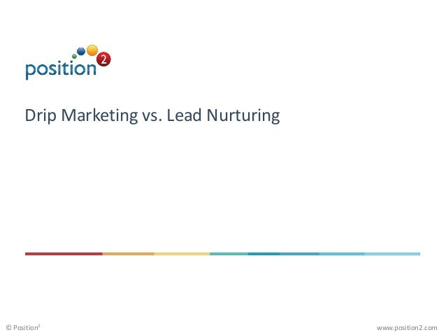 www.position2.com© Position2 Drip Marketing vs. Lead Nurturing