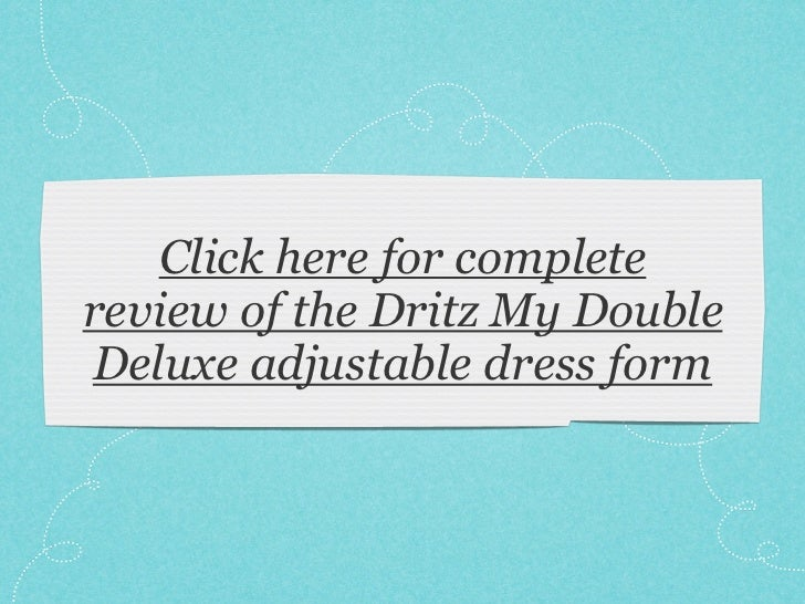 Dritz My Double Deluxe adjustable dress form review