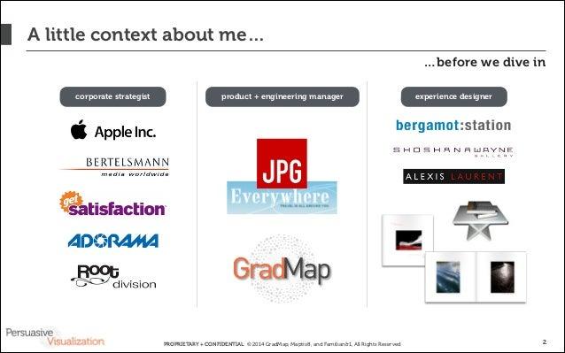 Persuasive Visualization: Data + Design = Engagement Slide 2