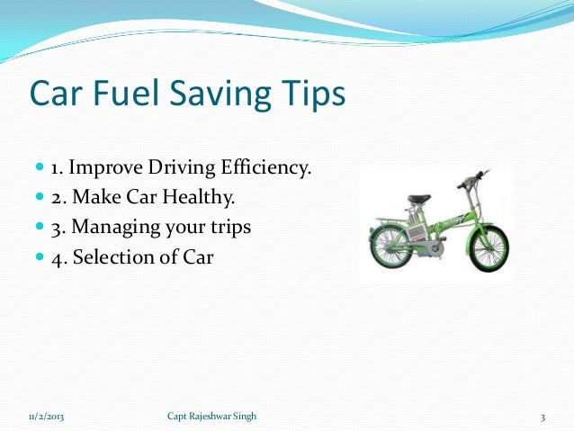 How to save gas driving