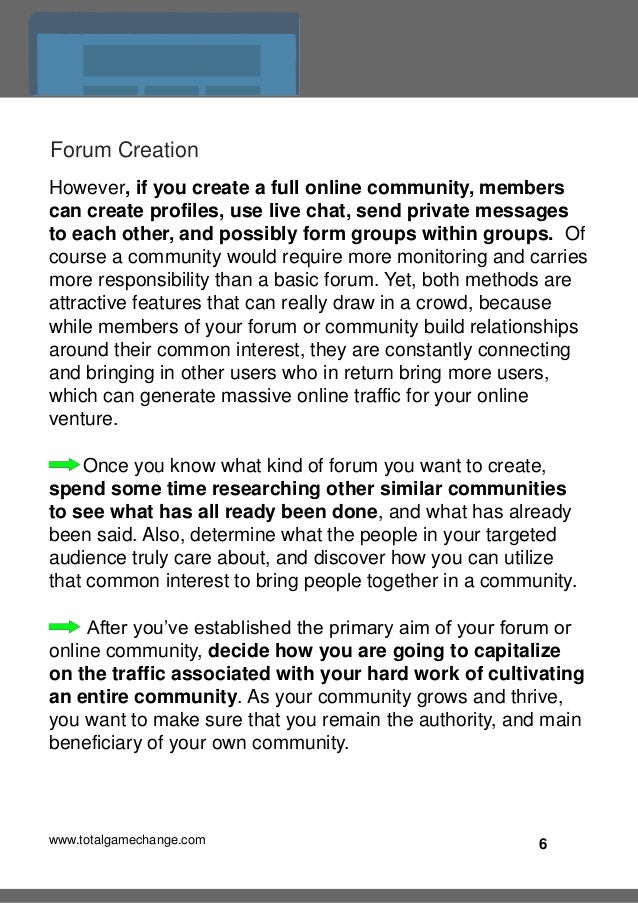 Drive Mad Internet Traffic: Create Online Communities and Forums