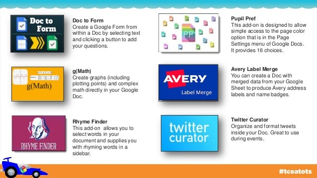 Drive On The Google Doc Add-On Circuit - Tots & Tech 2015