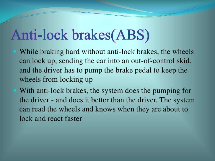 Driver less cars by avaneesh shuka - Advantages disadvantages electronic locks ...