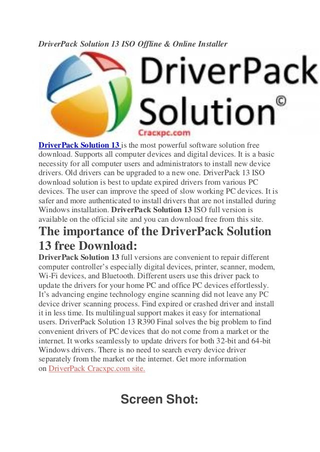 driver pack solution offline