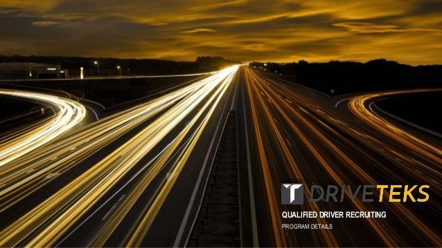 QUALIFIED DRIVER RECRUITING PROGRAM DETAILS