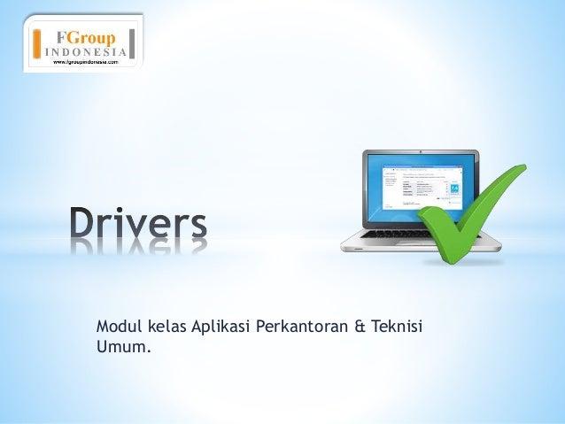 Modul kelas Aplikasi Perkantoran & Teknisi Umum.