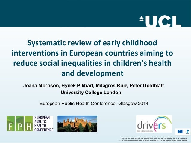 an analysis of early childhood development and social inequalities Importance of early childhood development framework for the social determinants of early child development with inequalities in children's development.