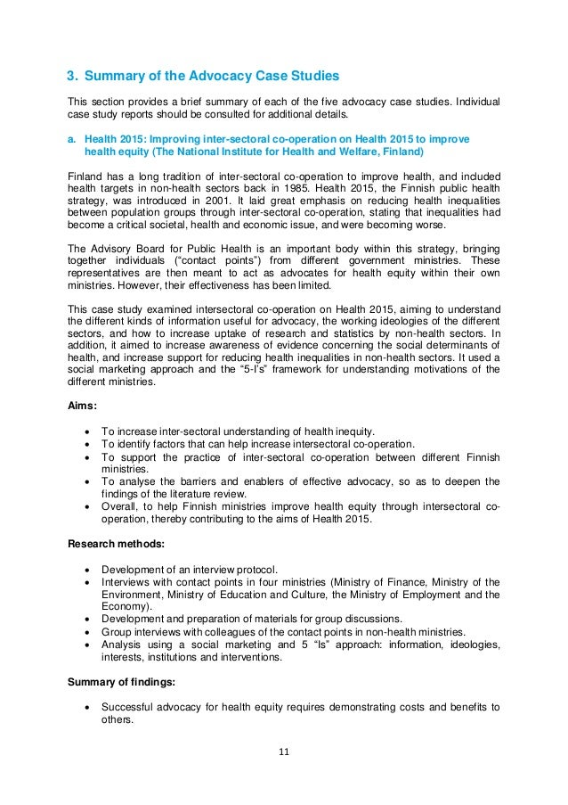 case study evaluation of an interview handout