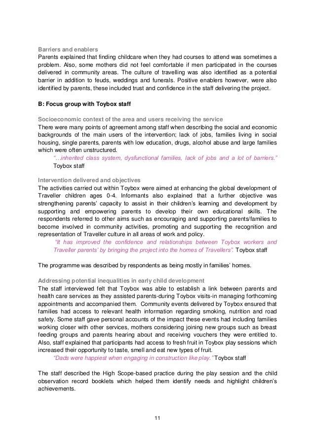 sample case study about cognitive development