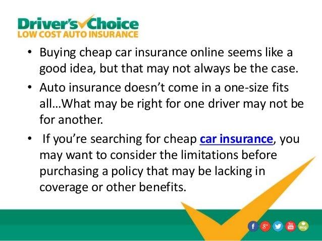 When is Buying Cheap Car Insurance Online Not a Good Idea?