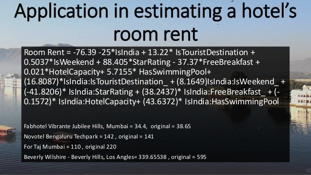 Drivers and Comparison of Hotel prices in India & USA using R
