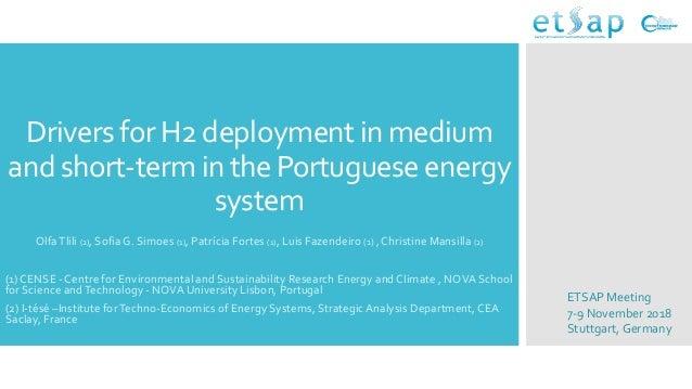 DriversforH2 deploymentin medium andshort-termin thePortugueseenergy system OlfaTlili (2), Sofia G. Simoes (1), Patrícia F...