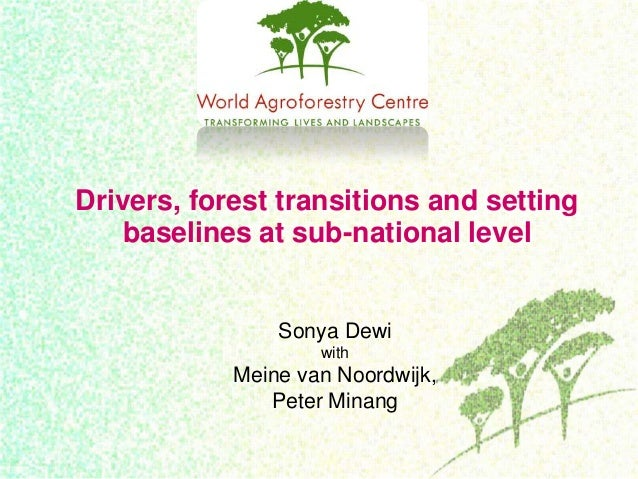 Drivers, forest transitions and settingbaselines at sub-national levelSonya DewiwithMeine van Noordwijk,Peter Minang