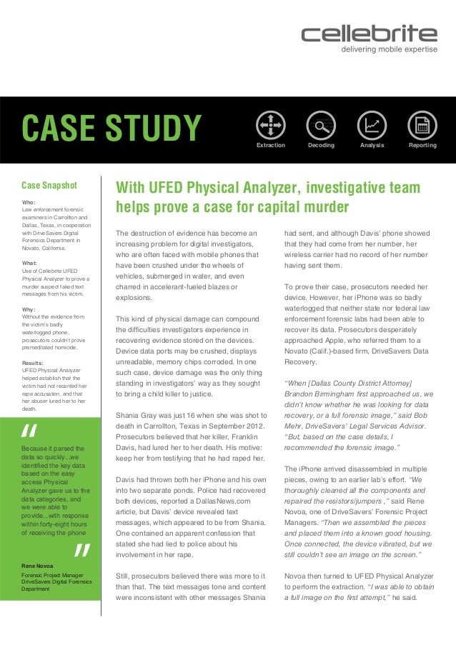 With UFED Physical Analyzer, investigative team helps prove