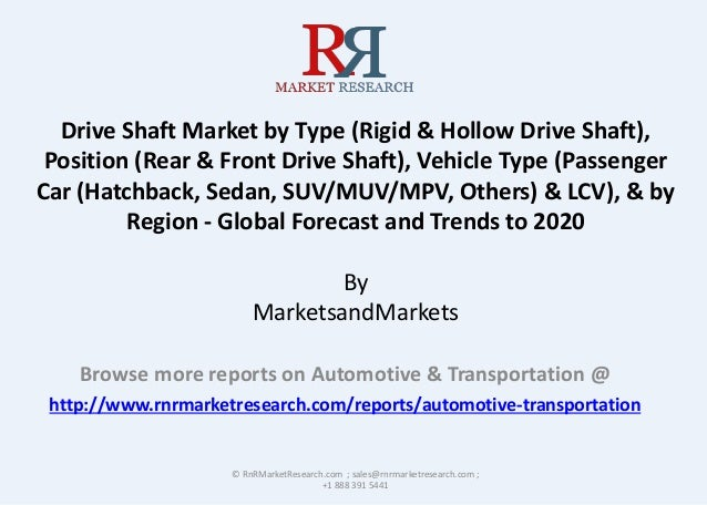 Drive Shaft Market by Type (Rigid & Hollow Drive Shaft), Position (Rear & Front Drive Shaft), Vehicle Type (Passenger Car ...