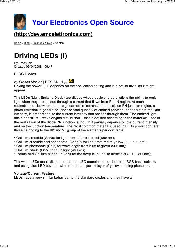 Driving LEDs (I)                                                                    http://dev.emcelettronica.com/print/51...