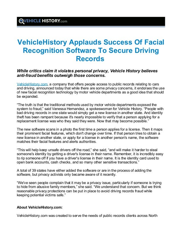 public records bank and driving records