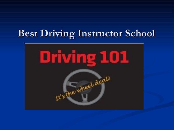 Best Driving Instructor School