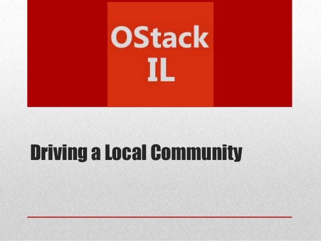 Driving a Local Community