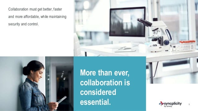 9 More than ever, collaboration is considered essential. Collaboration must get better, faster and more affordable, while ...