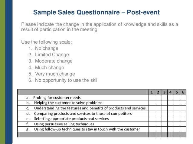 meeting questionnaire Meeting objectives: (what are the three most important things you want to hear your people say as they leave the event.