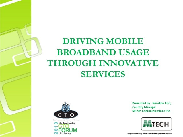 Driving mobile broadband usage through innovative services