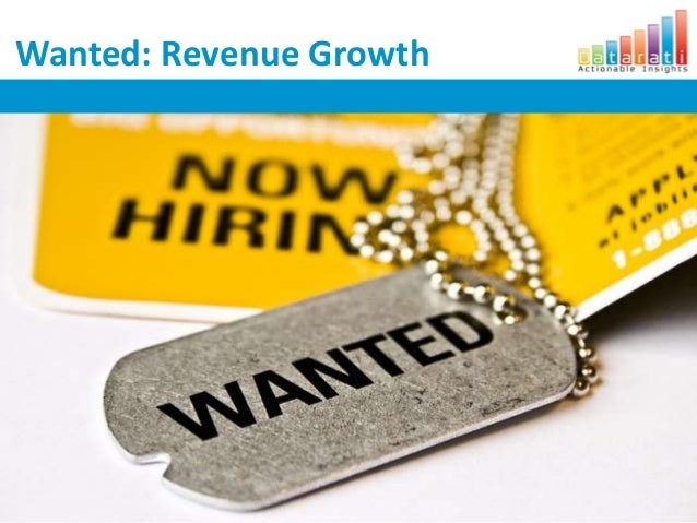 Wanted: Revenue Growth