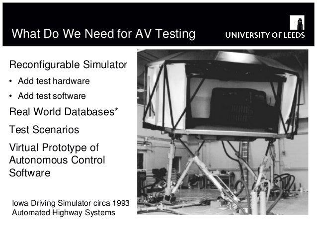 Driving simulators to support the design of autonomous vehicles